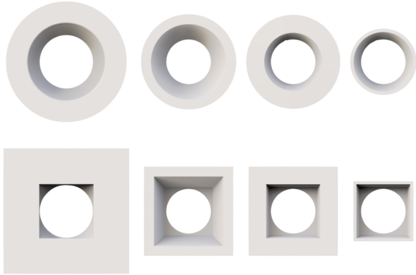 downlight trim types